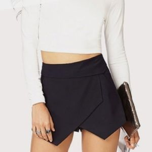 Zara Basic Black Envelope Skort